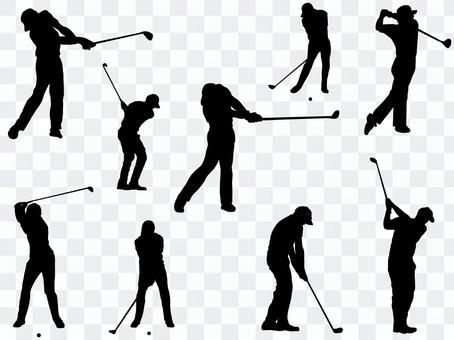 高爾夫剪影_set 1
