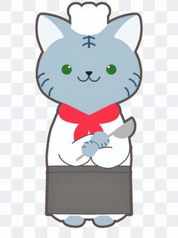猫のコックさん