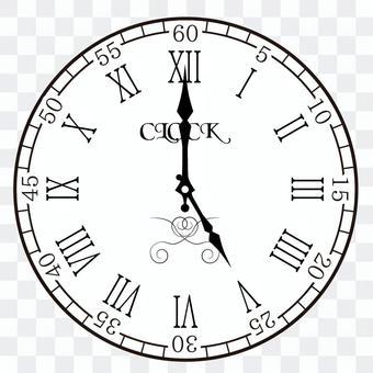 Clock 5 o'clock 17 o'clock