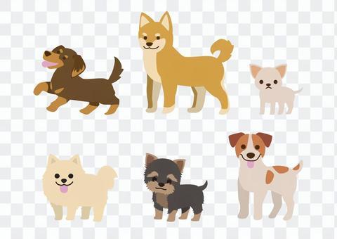 小狗的插圖集