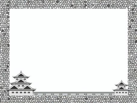 Japanese castle frame 4