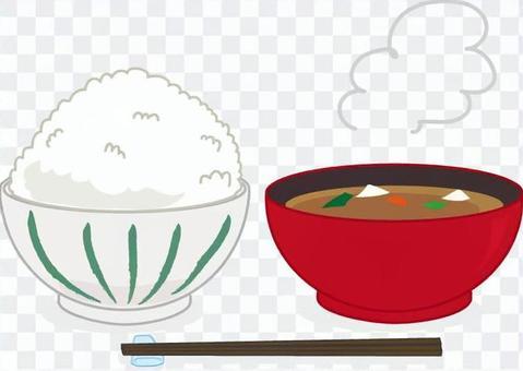 米飯和味噌湯用筷子