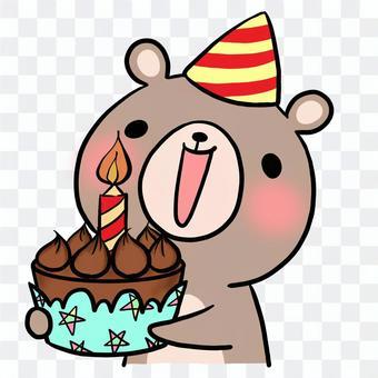 生日生日蛋糕熊