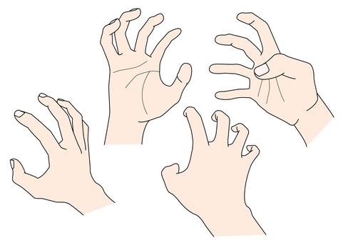 手部素材 12 強力抓手
