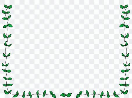 葉子框架11綠色