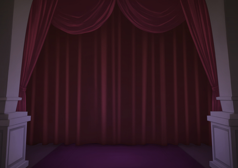 Stage curtain background illustration 02
