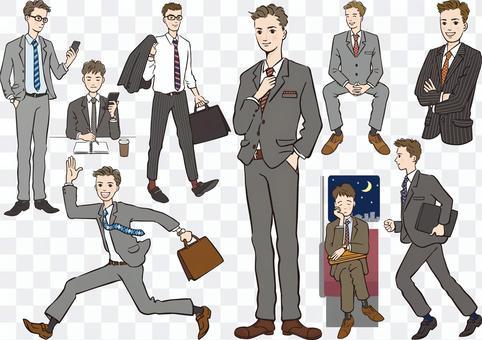 商務人士男人們男子