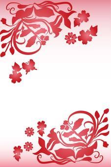 Flower butterfly frame