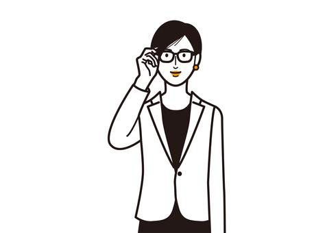 戴眼鏡的女人