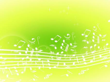 Musical note wallpaper green