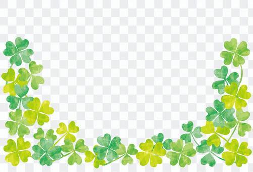 三葉草框架/綠色