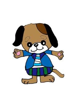 可愛的小狗插圖
