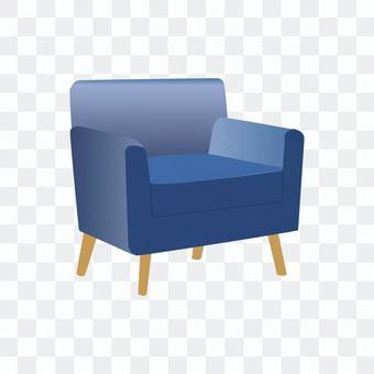 單人沙發(藍色)