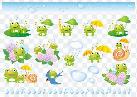 楽しい梅雨のカエルいろいろ