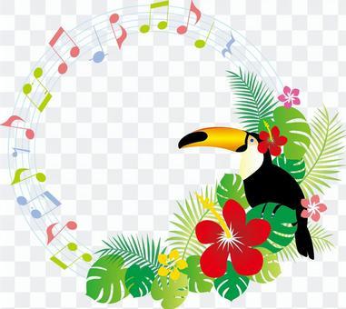 循環的熱帶音樂框架