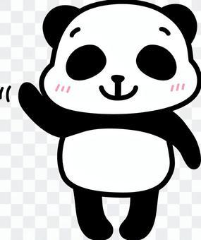 熊貓揮舞著