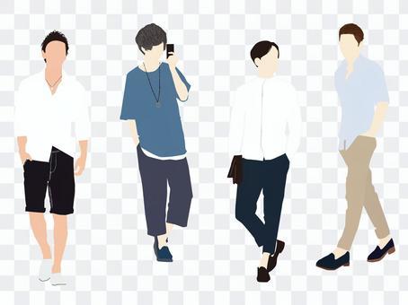 Male model set