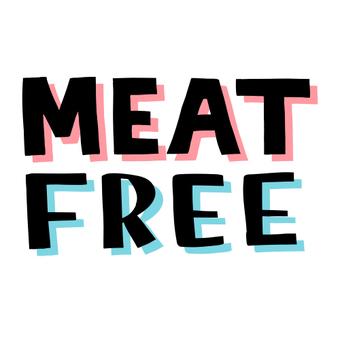 Meat-free character vegan