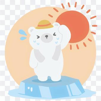 Heat stroke polar bear