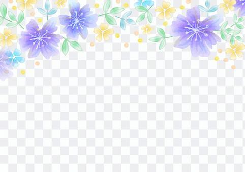少女材料064紫色花