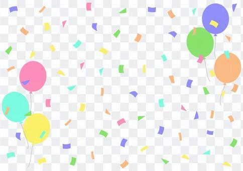 五彩紙屑氣球
