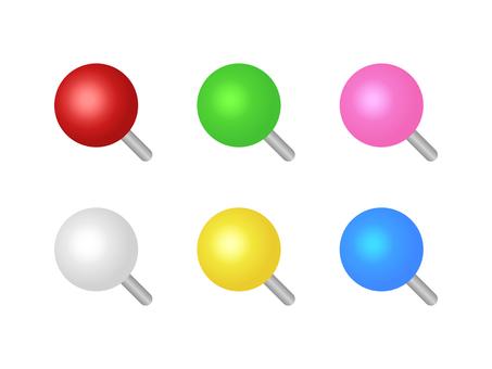 Colorful round push tweezers