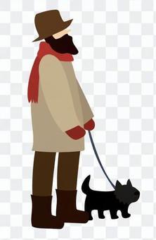 walking狗的人