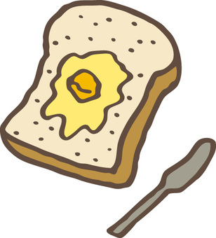 Toast with butter