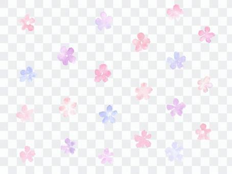 可愛的水彩花卉背景
