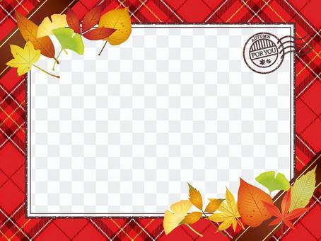 Autumn leaves · Autumn leaves check Letter frame 1