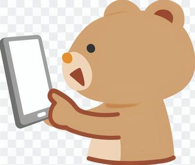 熊操作智能手機