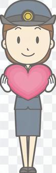 車站工作人員女性a  - 心臟 - 全身