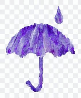 雨傘水彩圖片·藍色