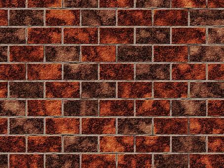 紅褐色的舊磚牆狀紋理4:3