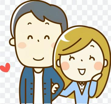 一對年輕夫婦