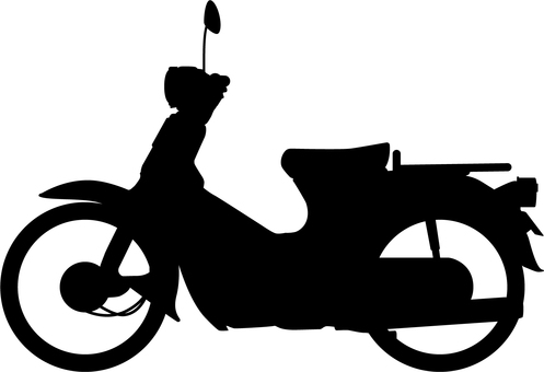 Business bike_silhouette facing left