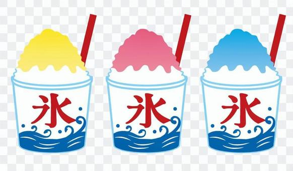 Shaved ice with cup