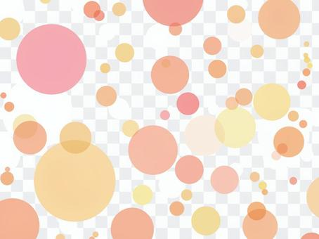 Texture watercolor polka dot orange