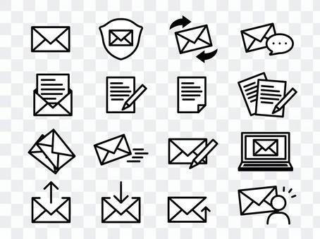 Letter icon set