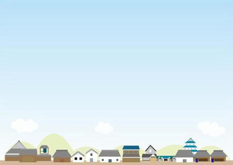 都市風景背景系列江戶時代
