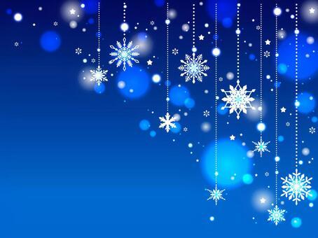 Snow ornament background