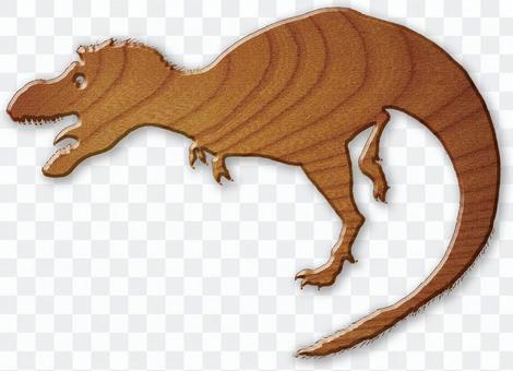 Tyrannosaurus wood board