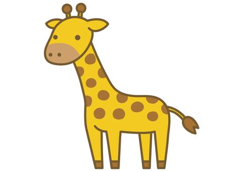 可愛的長頸鹿圖