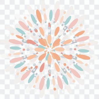 五彩繽紛的煙花 3 的插圖