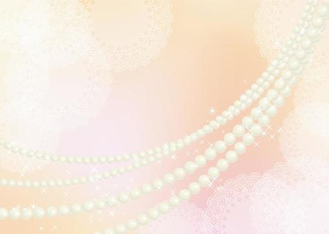 珍珠,花邊,背景,A4水平,與油漆