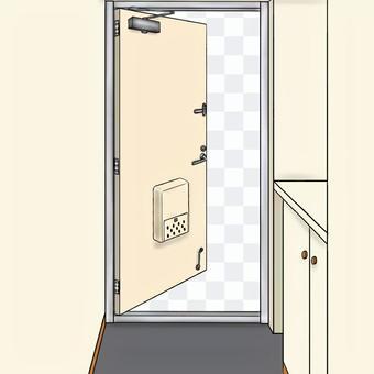 玄関ドア 白 半開き