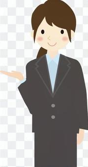 Business woman lady guide 2