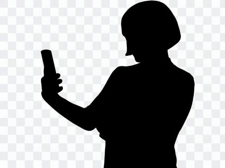 影子女智能手機
