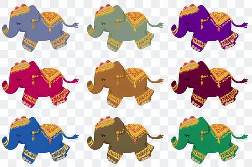 各種各樣的東方印度象