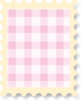 可愛郵票檢查粉紅色